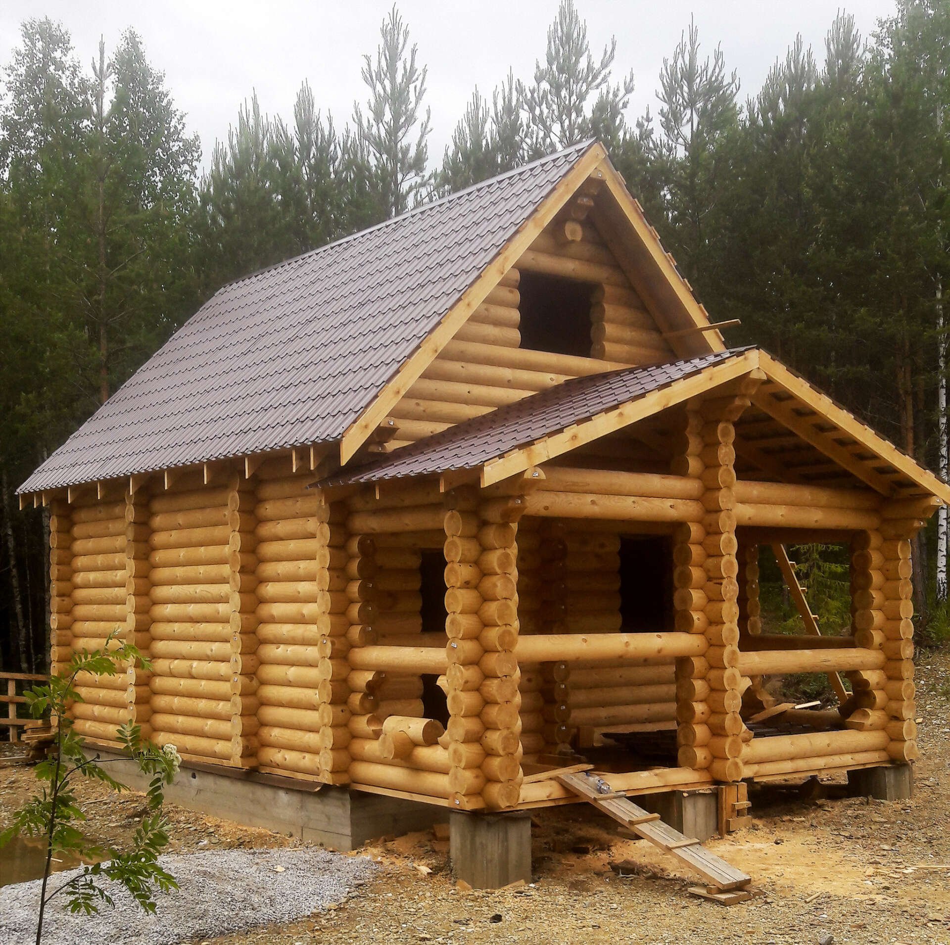 Баня-дом 5.5х8.5м БД-11