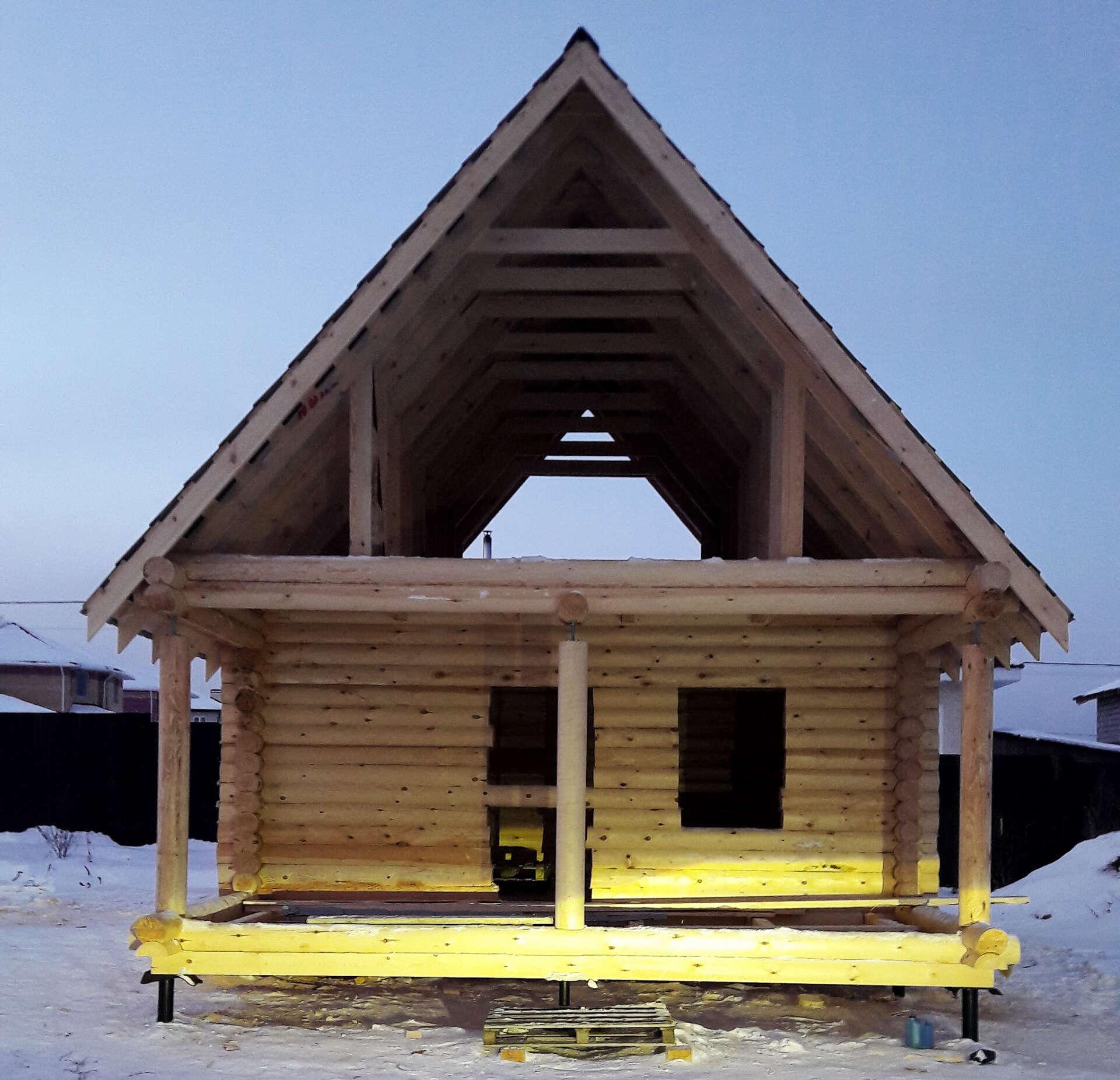 Баня-дом 6х8м БД-12