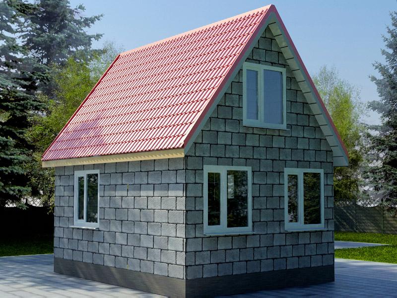 дом из шлакоблока 6 на 6